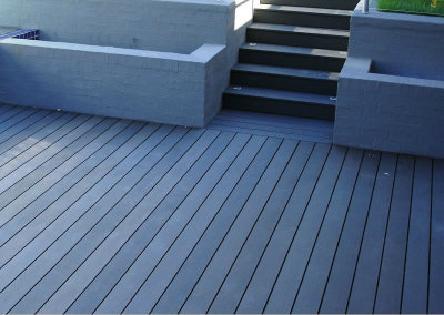 Slate grey woona decking the future of composite wood cladding